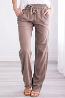 Women's fashion loose solid color wild casual trousers
