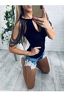 Sexy Off-The-Shoulder Fringed T-Shirt