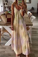 Sling Printed Maxi Dress