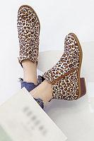 Women Square Heels Multicolor Boots