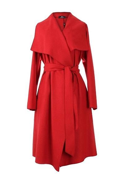 Extraordinary Lapel Plain Woolen Coat