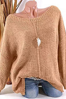 Round Neck Long Sleeve Knitting Sweaters
