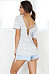 Deep V Neck  Backless  Stripes T-Shirts