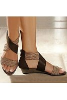 Women's Casual Colorblock Woven Sandals