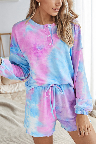 Tie-dyed Loose Two-piece Outfits