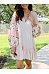 Bohemian V-Neck Lace-Up Printed Lantern Long-Sleeved Ruffled Dress