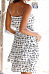 Strapless  Printed  Sleeveless Casual Dresses