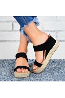 Women's wedge Hemp Rope Sandals