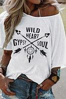 Round Neck Short Sleeve Graphic T-shirt