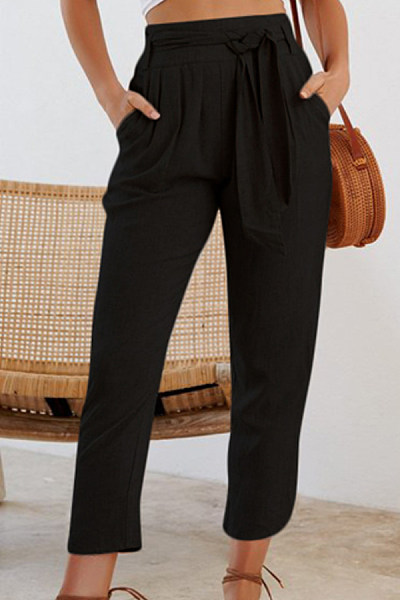 Women Casual Plain Pants
