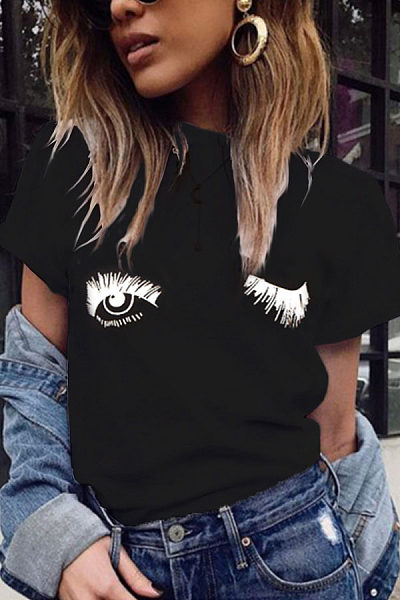 Round Neck  Printed T-Shirts
