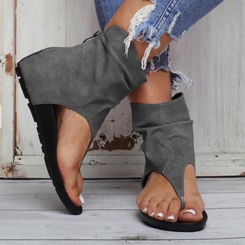 Women's fashion flat toe sandals