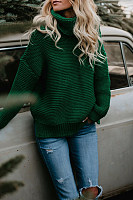 High Neck  Plain  Basic Sweaters