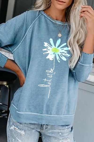 Fashion Round Neck Pullover T-shirt