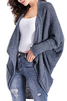Asymmetric Neck  Asymmetric Hem  Plain Cardigans