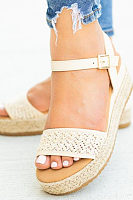 Bohemian  Peep Toe  Date Travel Wedge Sandals