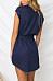 V Neck  Asymmetric Hem  Belt  Plain  Batwing Sleeve  Extra Short Sleeve Casual Dresses