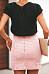 Sheath  Basic  Plain  Skirts