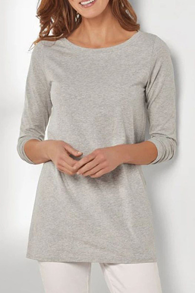 Women's Casual Solid Color Loose T-Shirt