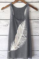 Round Neck Printed Vest