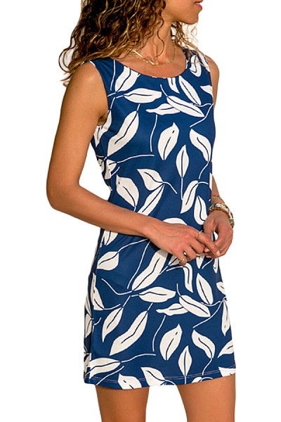 Round Neck  Print Bodycon Dresses