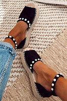 Plain  Ankle Strap  Peep Toe  Date Travel Platform Sandals