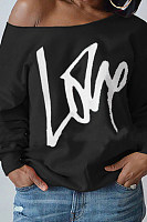 Letter Print Long Sleeve Sweatshirt