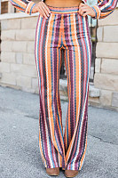 Long  Basic  Striped  Pants