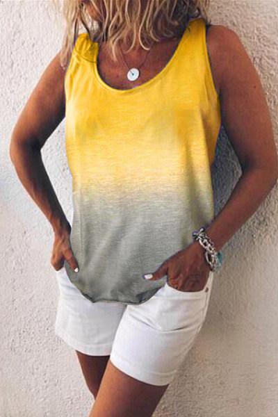 Women's Color Stitching Vest