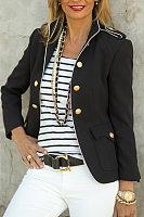 Tachibana Decorative Buttons Long Sleeve Jacket