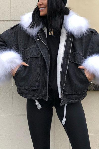 Fashionable Denim Jacket Top