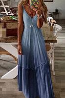 Sling Gradient Maxi Dress