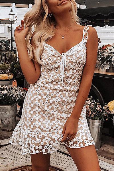 Sexy Lace Spaghetti Strap Bodycon Dresses
