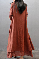 Sweet Heart  Asymmetric Hem  Plain Maxi Dress