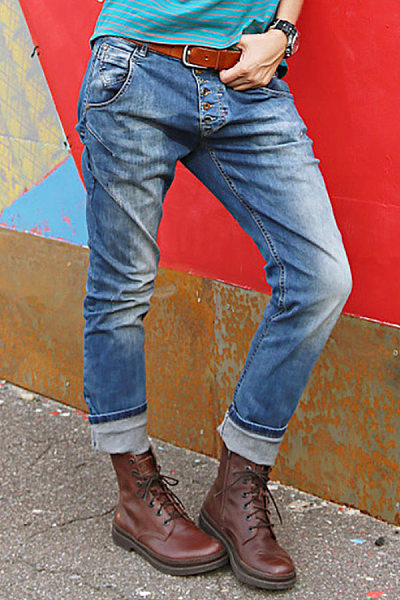 Women Casual Washed Jeans