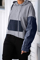 Long Sleeve Colouring Casual Hoody