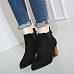 Chunky Point Toe Ankle Boots