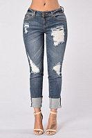 Broken Holes Jeans