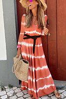 Women's Long Sleeve Striped Dress