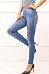 Imitation denim fashion print leggings