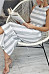 Round Neck  Striped  Sleeveless Jumpsuits