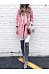 Fold Over Collar Loose Fitting Plain Cardigans