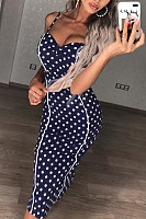 Spaghetti Strap  Dot  Sleeveless Bodycon Dresses