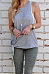Round Neck  Hollow Out Plain Camis