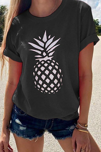 Casual O Neck Printed T-Shirts