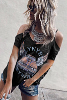 Spaghetti Strap  Printed T-Shirts