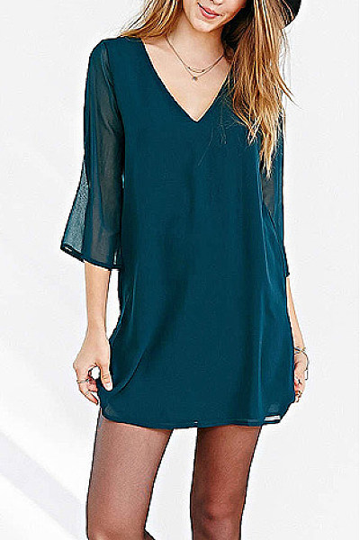 Chiffon V Neck Casual Dress