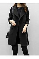 Notch Lapel  Plain  Coats