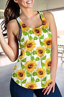 Round Neck Sunflower Vest