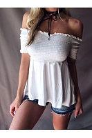 Slim Fit Solid Color Short Sleeved T-Shirts